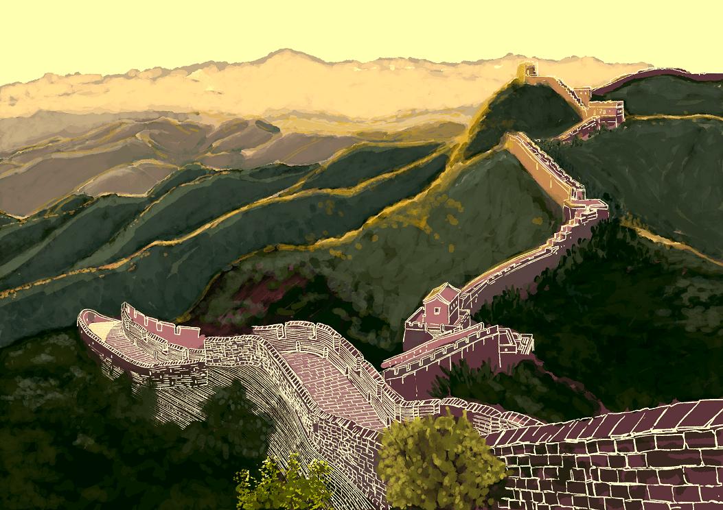 A cavallo del muro